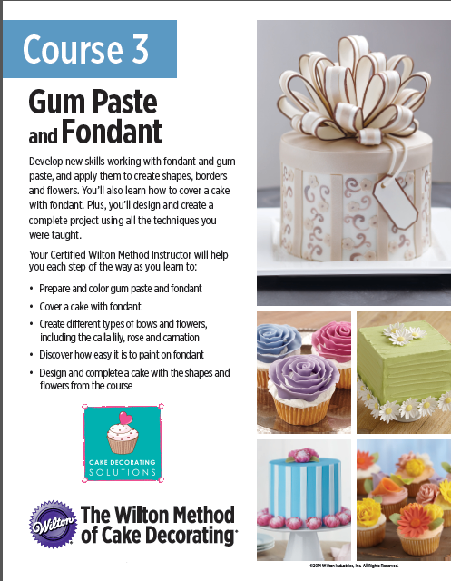 Cake Decorating Solutions Fondant : Cake Decorating Classes - Cake Decorating Solutions