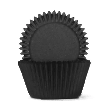 Muffin Cup - 408 - Black (100 Pk)