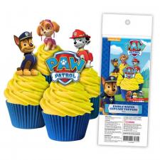 Wafer Paper Cupcake Topper - Paw Patrol