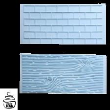 Cake Mad - Brickwork / Wood Grain Impression Mat Set