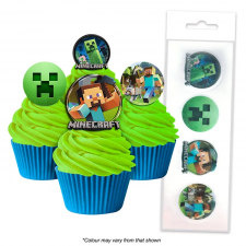Wafer Paper Cupcake Topper - Minecraft