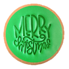 Cake Mad - Cookie Embosser - Merry Christmas