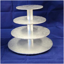 Cake Stand - Masonite - 4 Tier Round