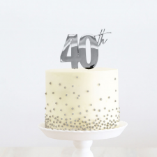 Cake Topper - 40th - Silver