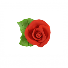 Flower - Rose - Red- Tiny (With Leaf)