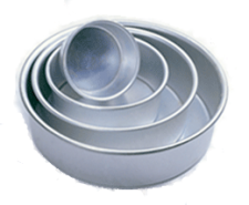 "Tin - Deep Round - 10"" - 250MM - 4 Inch Deep"