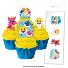 Wafer Paper Cupcake Topper - Baby Shark