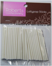 Lollypop Sticks - White