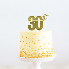 Cake Topper - 30th - Gold