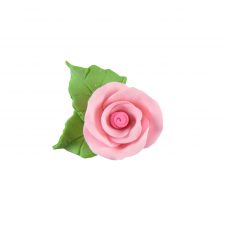 Flower - Rose - Pink- Tiny (With Leaf)