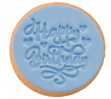 Cake Mad - Cookie Embosser - Happy Birthday #3