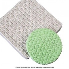 Silicone Mould - Texture Mat - Basket Weave