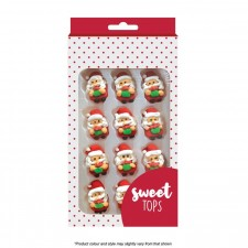 Sugar Decorations - Santa - 12 Pack