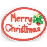 Sugar Decoration - Chistmas Plaque