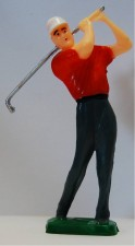 Plastic - Male Golfer With Red Shirt