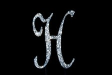 Diamante - Large Letter 'H' - 12cm