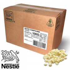 White Choc. Buttons - Bulk - 15kg Box