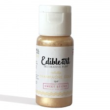 Sweet Sticks Edible Paint - Metallic - Champagne Gold 15ml