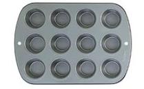 Tin - Muffin Pan - Heavy Duty - 12 Cup Regular