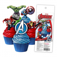 Wafer Paper Cupcake Topper - Avengers