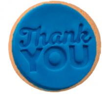 Cake Mad - Cookie Embosser - Thank You #8