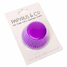 Cupcake Case - Foil - Purple - 50 Pack - 650