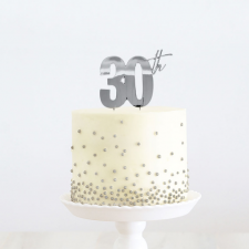 Cake Topper - 30th - Silver