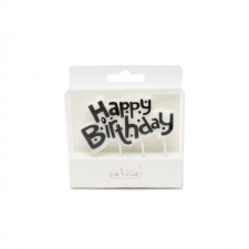 Candle - Happy Birthday - Black