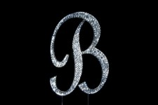 Diamante - Large Letter 'B' - 12cm