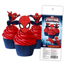 Wafer Paper Cupcake Topper - Spiderman