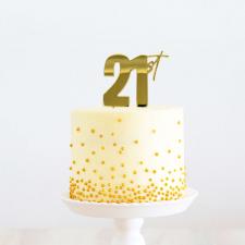 Cake Topper - 21st - Gold