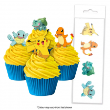 Wafer Paper Cupcake Topper - Pokemon