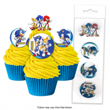 Wafer Paper Cupcake Topper - Sonic