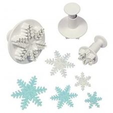 Cutter - Ejector - Snowflake - Set of 3