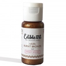 Sweet Sticks Edible Paint - Metallic - Burnt Bronze 15ml