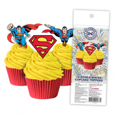 Wafer Paper Cupcake Topper - Superman