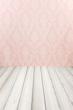 Photo Backdrop - Pink Damask