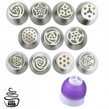 Cake Mad - Russian Piping Tip Set Including Coupler