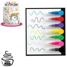 Edible Mini Pen Set - Coloured Set 7