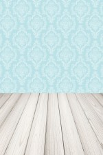 Photo Backdrop - Blue Damask