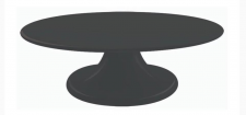 Turntable - Melamine - Black