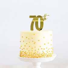 Cake Topper - 70th - Gold