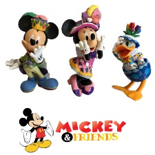 Figurines - Mickey, Minnie & Donald Set of 3