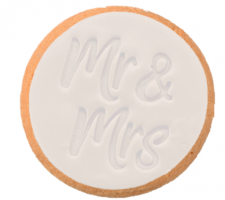 Cake Mad - Cookie Embosser - Mr & Mrs