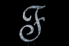 Diamante - Large Letter 'F' - 12cm