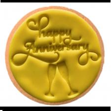 Cake Mad - Cookie Embosser - Happy Anniversary