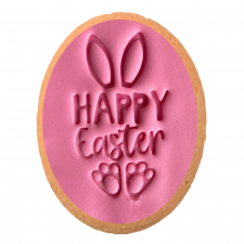 Cake Mad - Cookie Embosser + Cutter- Happy Easter Bunny