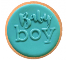 Cake Mad - Cookie Raised Embosser - Baby Boy