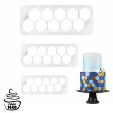 Cake Mad - Cutter - Hexagon Set 3