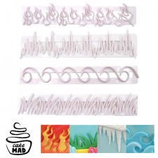 Cake Mad - Cutter - Grass / Ice / Flames / Waves